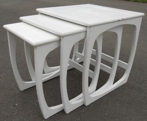 SOLD Nest of Three Painted 1960's Retro Coffee Tables